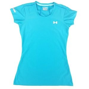 Womens Under Armour Heat Gear Fitted Workout Shirt